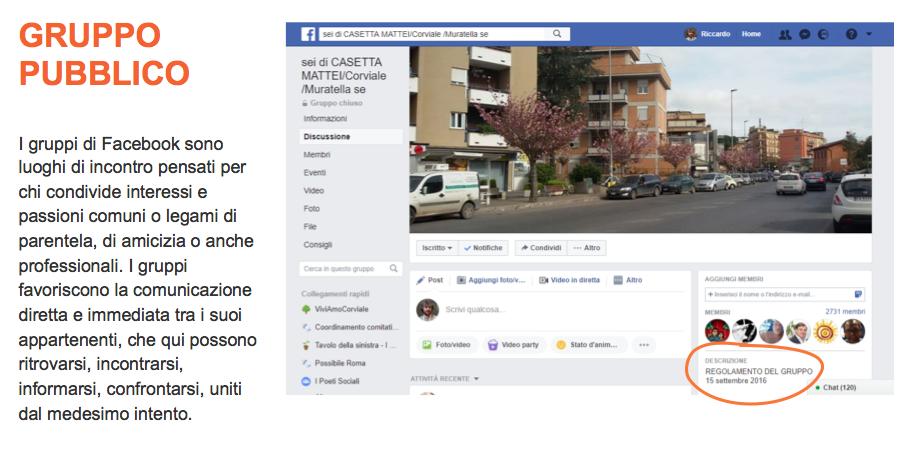 Facebook e C gruppo