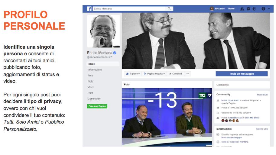 Facebook e C- profilo