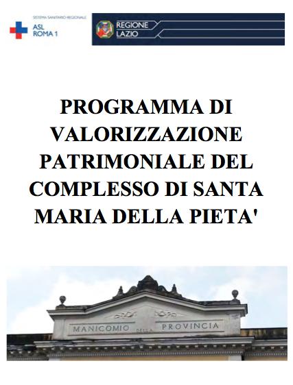 Programma di valorizzazione patrimoniale del complesso di Santa Maria della Pietà in Roma