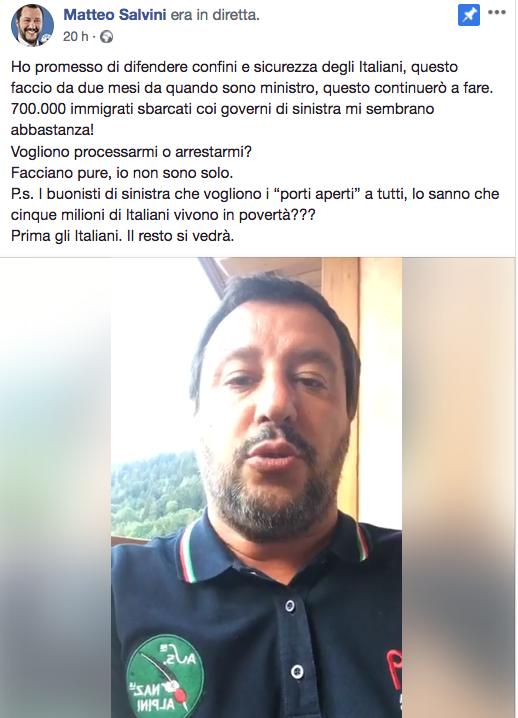 Salvini su nave Diciotti Schermata 2018-08-23 alle 16.01.51