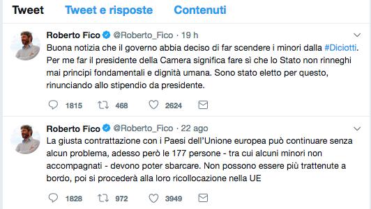 tweet fico nave Diciotti Schermata 2018-08-23 alle 16.05.19