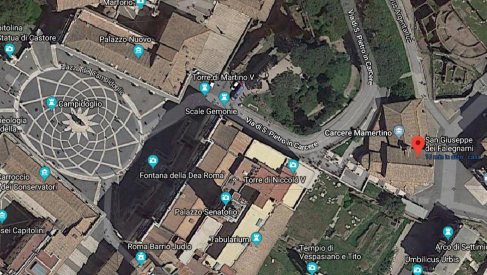 San Giuseppe dei Falegnami, prima del crollo da Google map