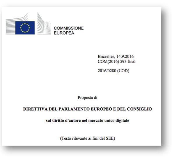 diritto autore UE 12 9 2018