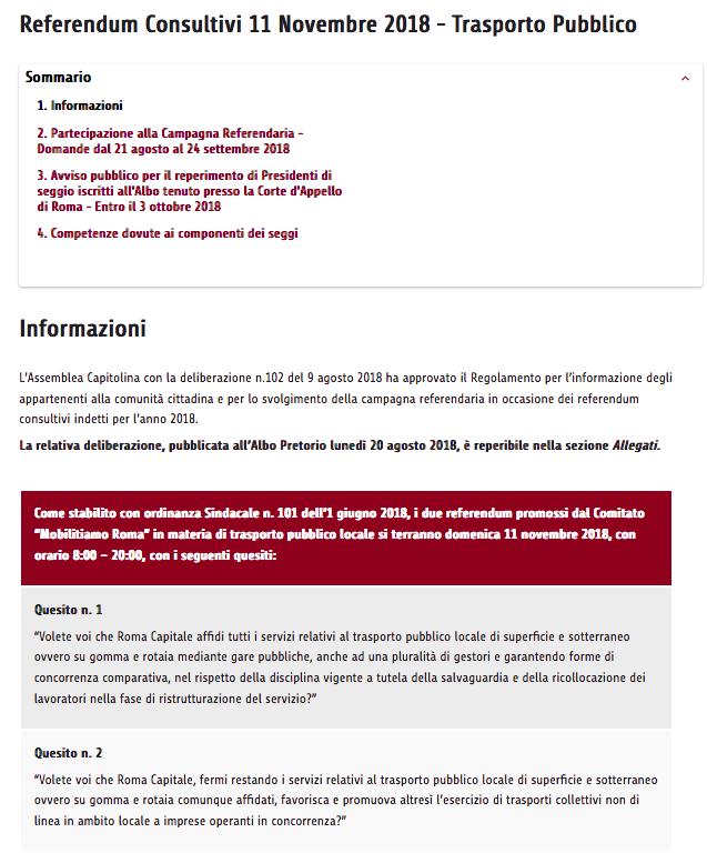 informazioni referendum atac sito roma Schermata 2018-09-20 alle 14.15.46