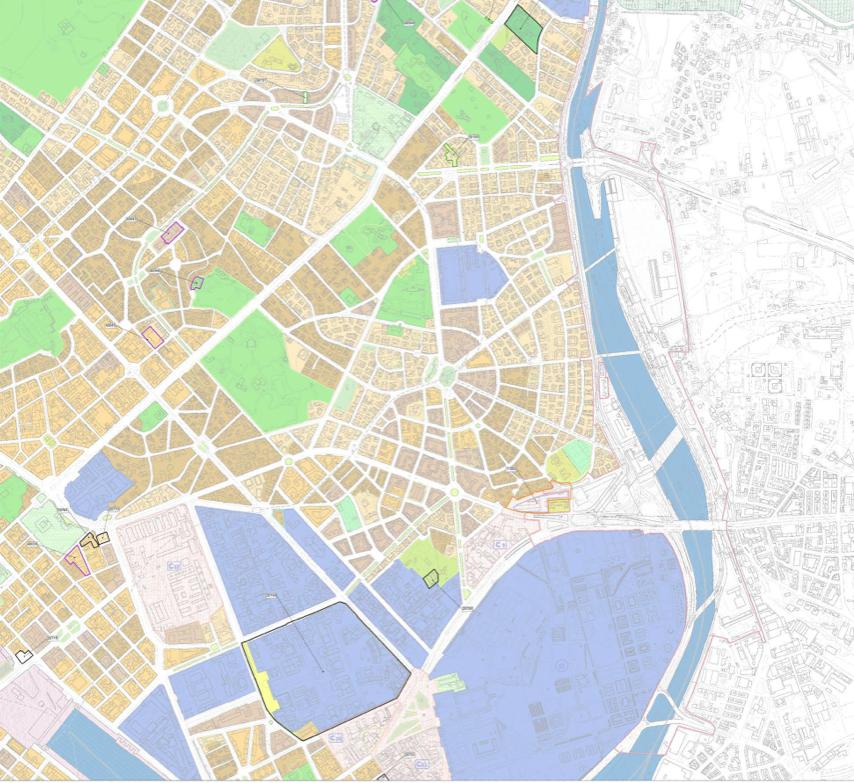 PRG particolare  tessuti 2 municipio: quartiere Trieste (in alto) e piazza Bologna