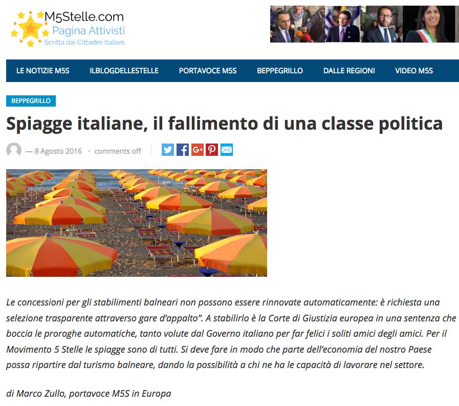 Marco Zullo su concessioni balneari da sito beppegrillo.it