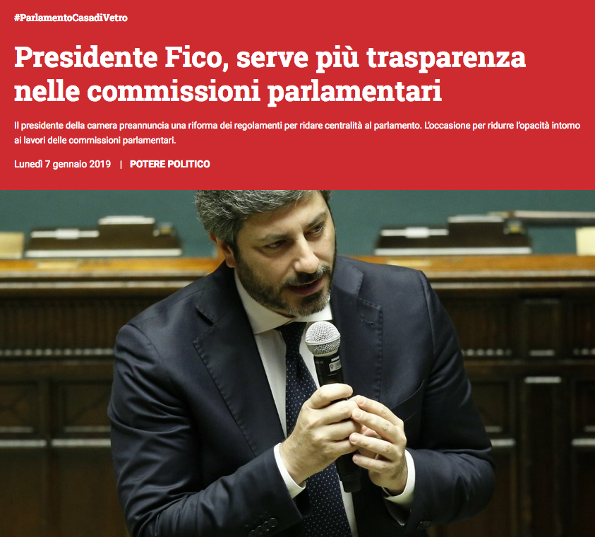 openpolis a Fico trasparenza commissioni palramentari