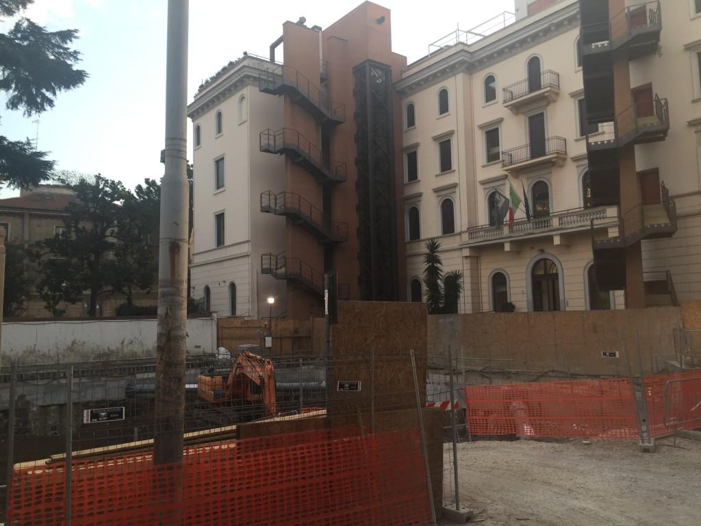 Via Pompeo Magno, intervento Piano Casa nel cortile dell'ex convitto