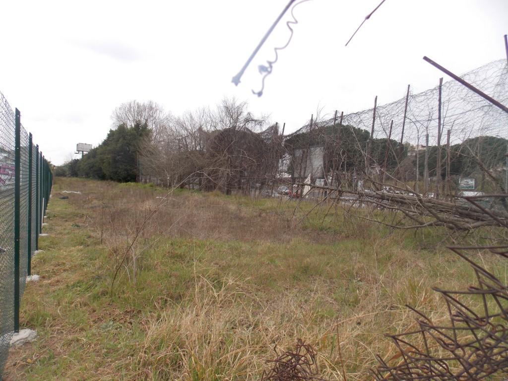 4 – L'area di proprietà comunale rimasta abbandonata fra vecchia e nuova recinzione
