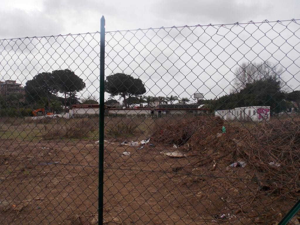 6 – L'area privata di uso pubblico recintata