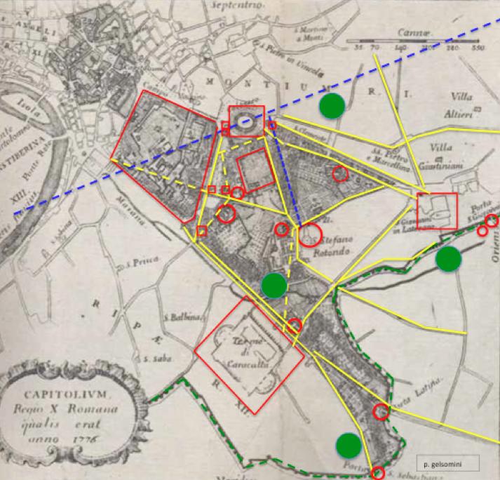 celio mappa antica P.G.