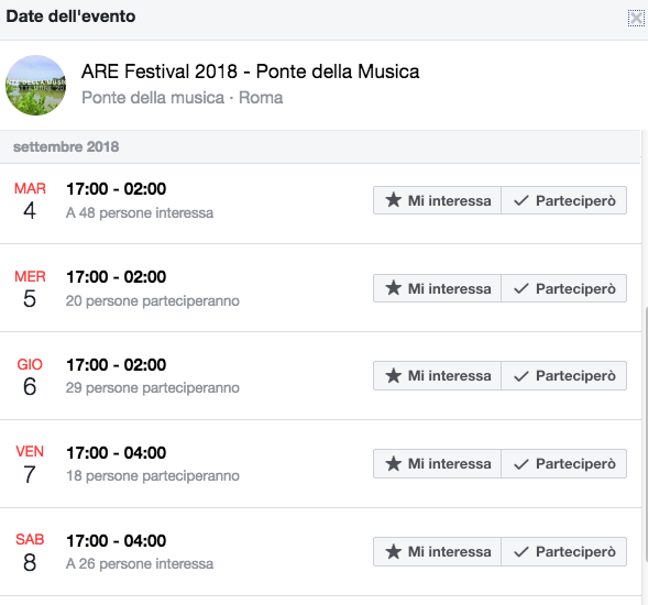 evento Fb Are festival ponte della musica Schermata 2018-09-04 alle 13.47.15