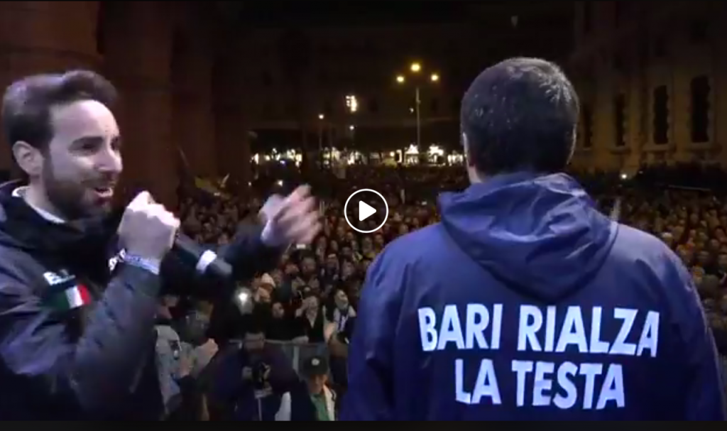 video Salvini Bari da fb