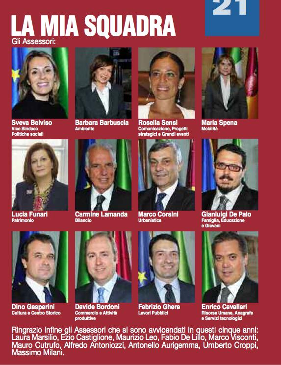 GIUNTA ALEMANNO dicembre 2012-aprile 2013 da depliant alemanno