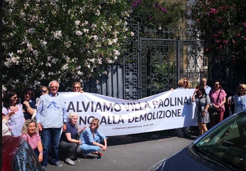 manifestazione villa Paolina foto C.Rinaldi