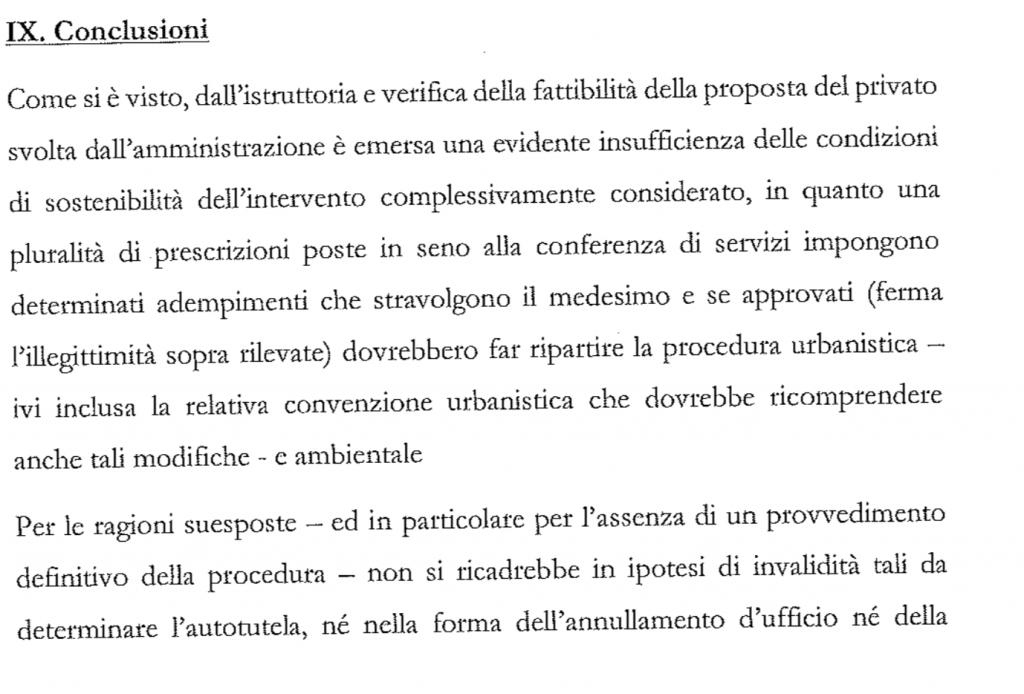 conclusioni parere legale stadio della roma 1
