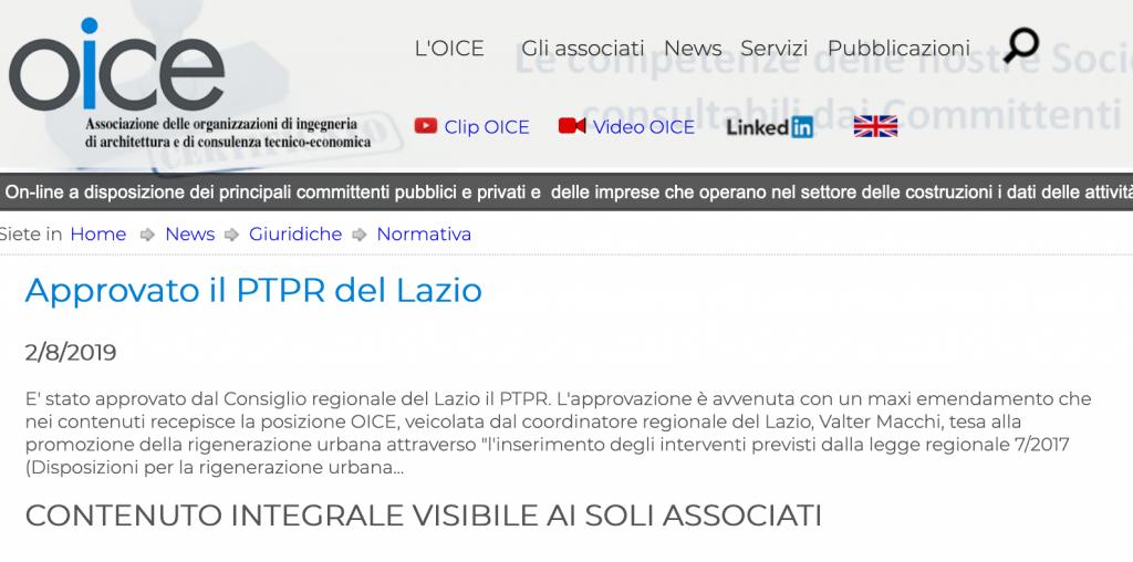 dal sito oice lazio PTPR Schermata 2019-08-03 alle 15.49.33
