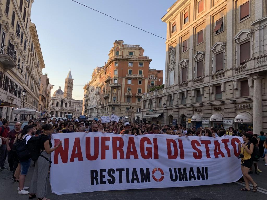 manifestazione luglio 2019 (foto ambm)