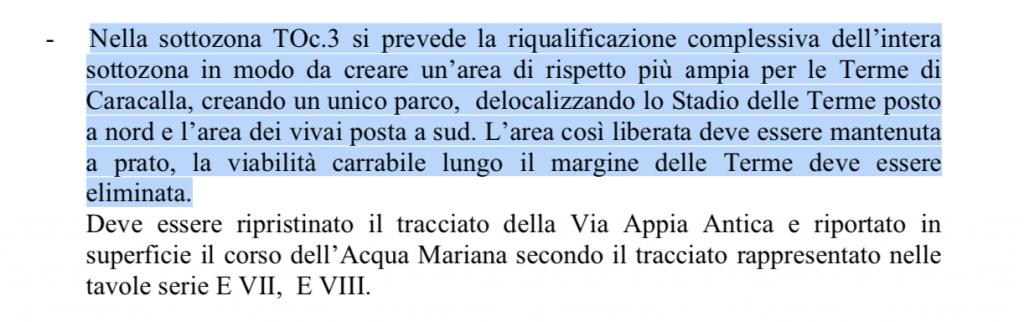 ptp caffarella appia norme tecniche
