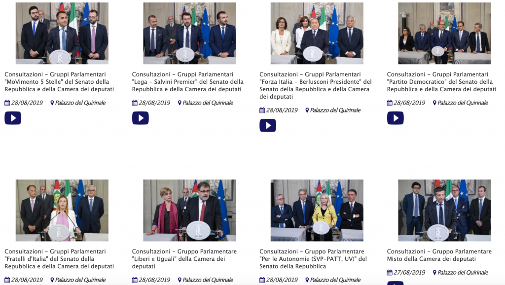 Quirinale.it. video conf stampa 28 agosto 2019