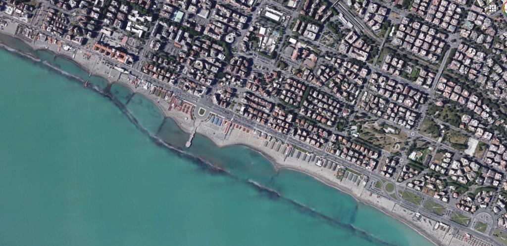 spiagge ostia map