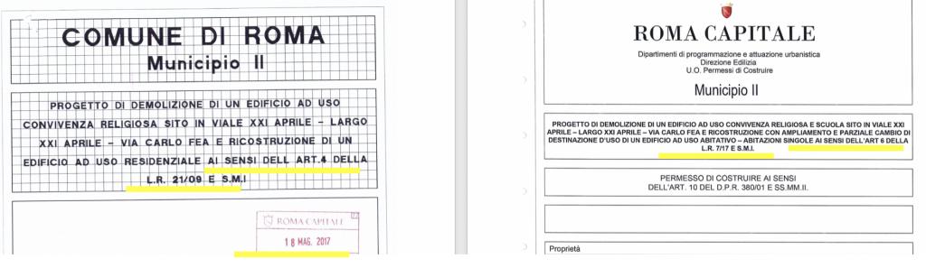 villa paolina, normative presentazione progetto 1 e 2