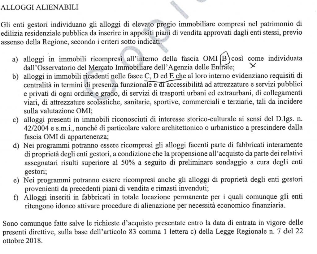 estratto delibera giunta lazio 26 6 2019 alienazione immobili ater