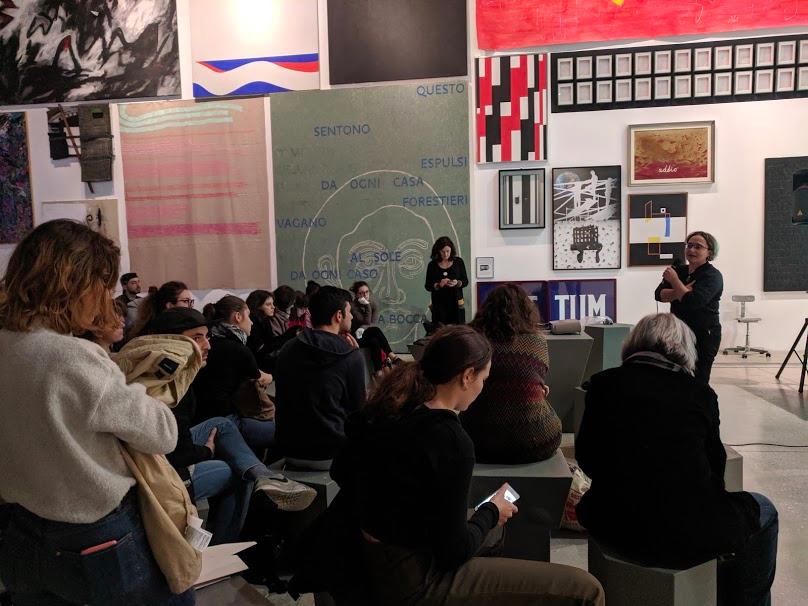 L'architetto Valentina Cocco (Vice direzione generale – Servizi al territorio di Roma Capitale) illustra i progetti di ristrutturazione, ancora in corso, dei bagni interrati