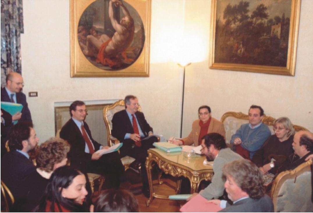 Foto Comitato Caffarella incontro Sindaco Veltroni 2002