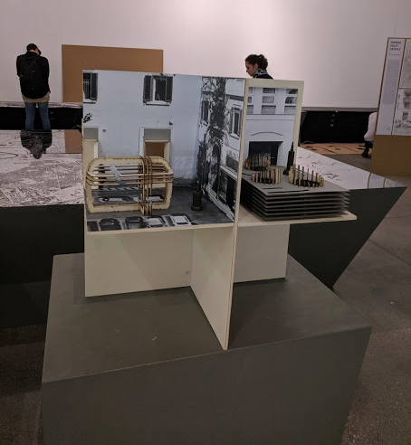 – Il plastico di un'ipotesi progettuale per il centro storico
