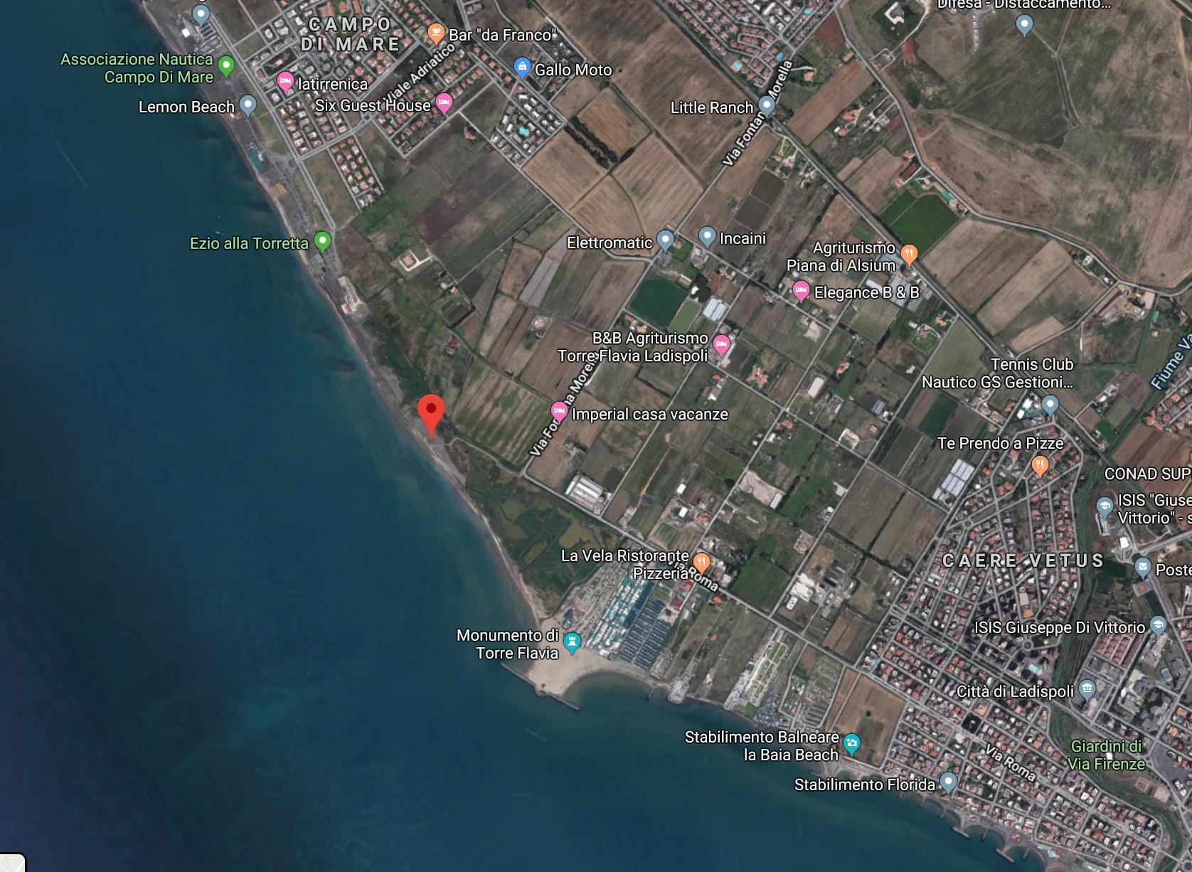 Torre Flavia google map