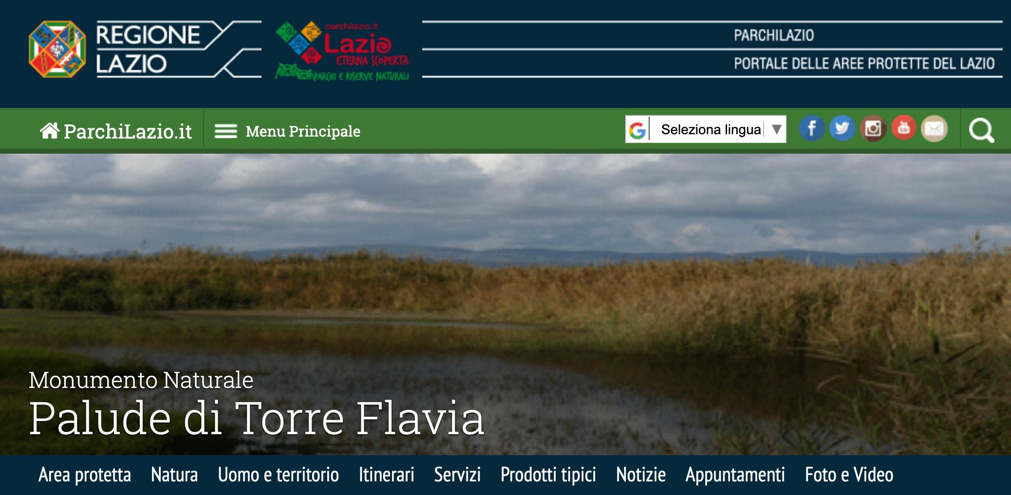 Torre Flavia sito regione
