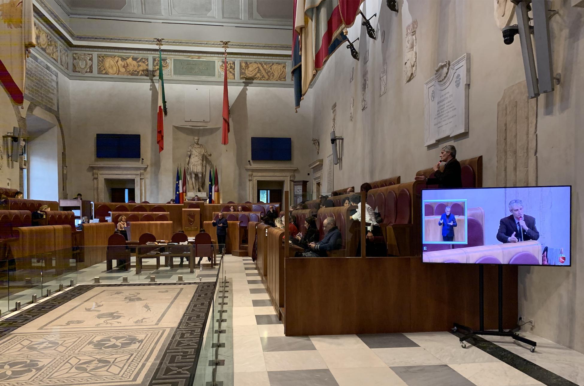 aula campidoglio dibattito delibera ex caserme 21 nov 2019