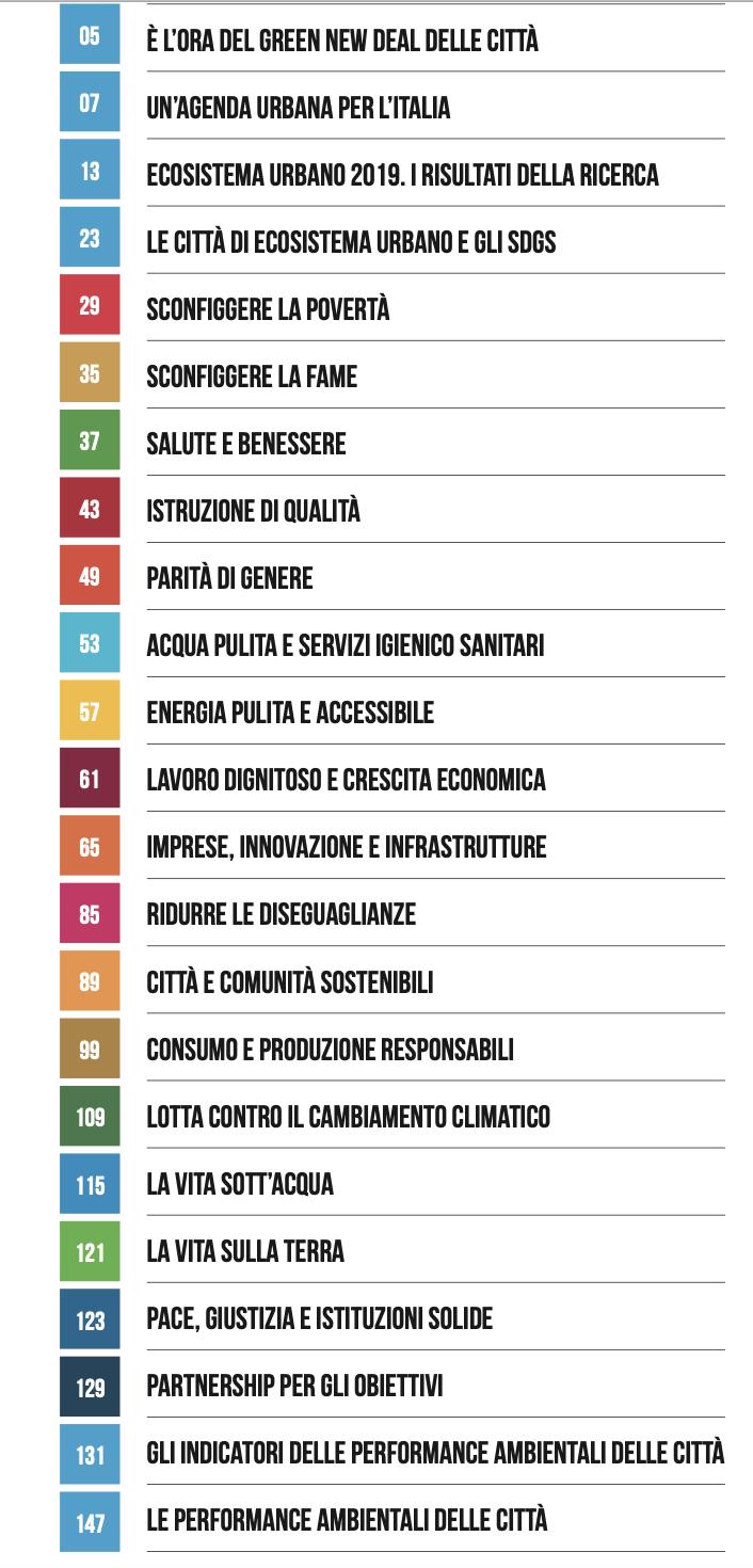 indiceECOSISTEMA URBANO 2019 LEGAMBIENTE