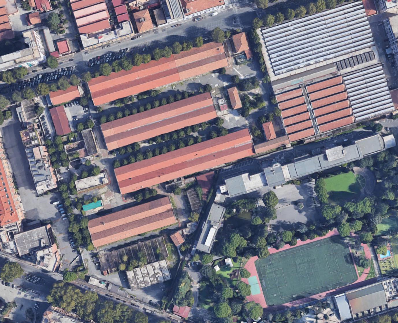 mappa Google via reni ex stabilimenti militari