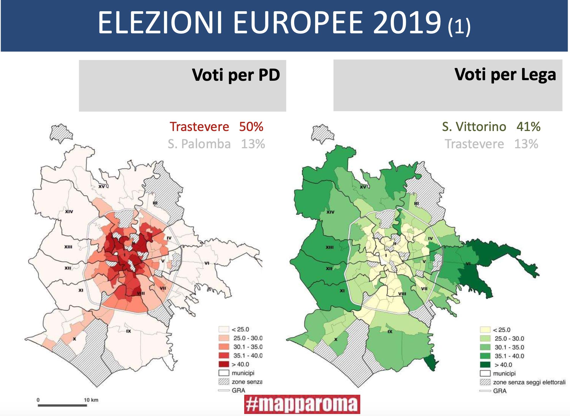 slide mapparoma voto europeo pd lega roma