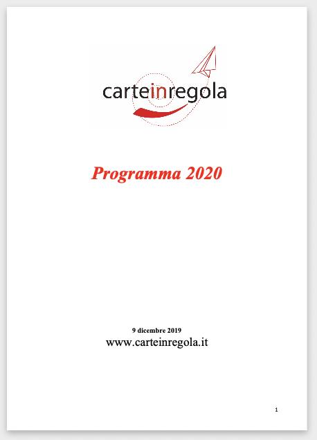 copertina programma carte 2020