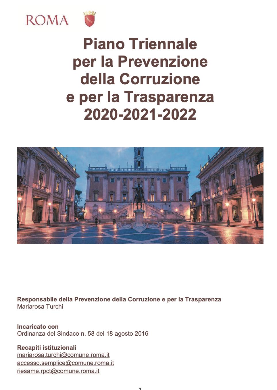 piano anticorruzione roma bozza 2019