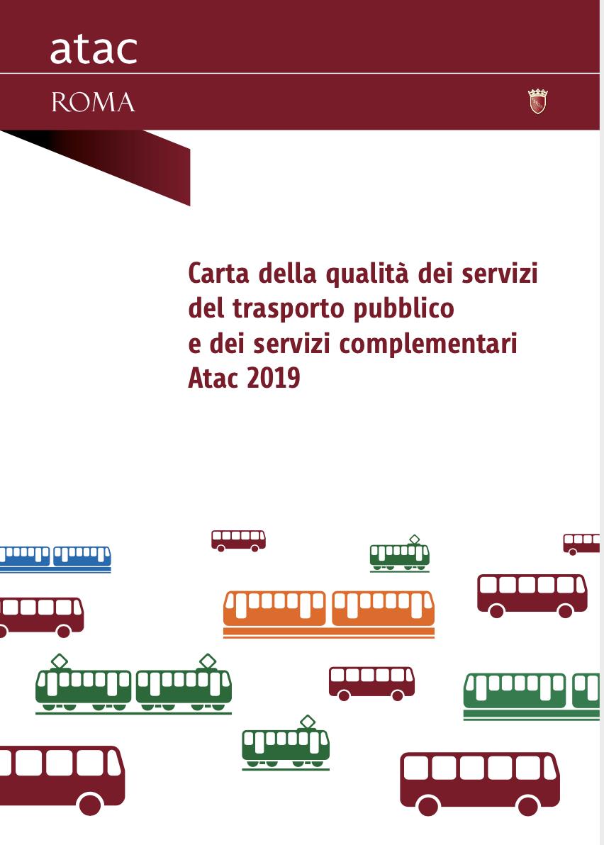 copertina carta della qualita dei servizi ATAC 2019
