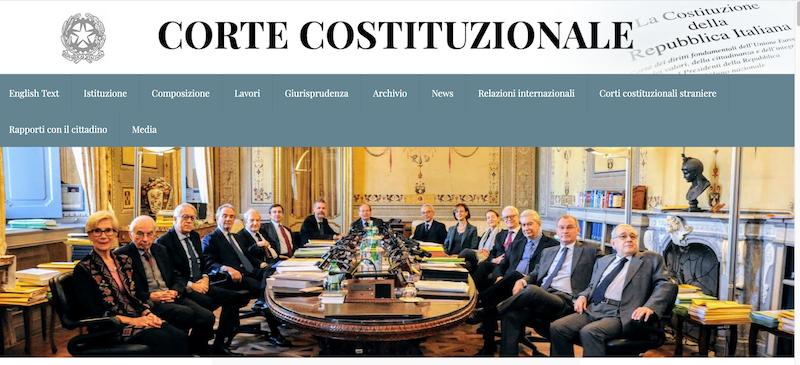 sito corte costituzionale 13 gennaio 2020