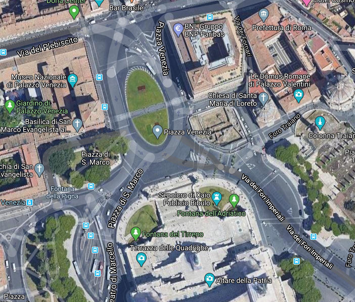 Piazza venezia map