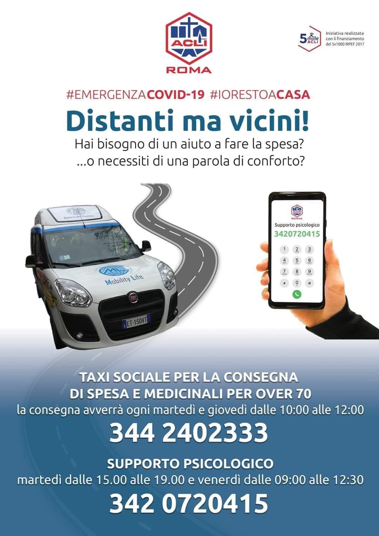 acli taxi sociale supporto psicologico