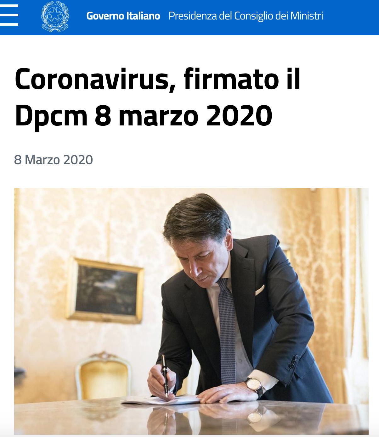 conte firma dcpm coronavirus Schermata 2020-03-08 alle 09.16.32