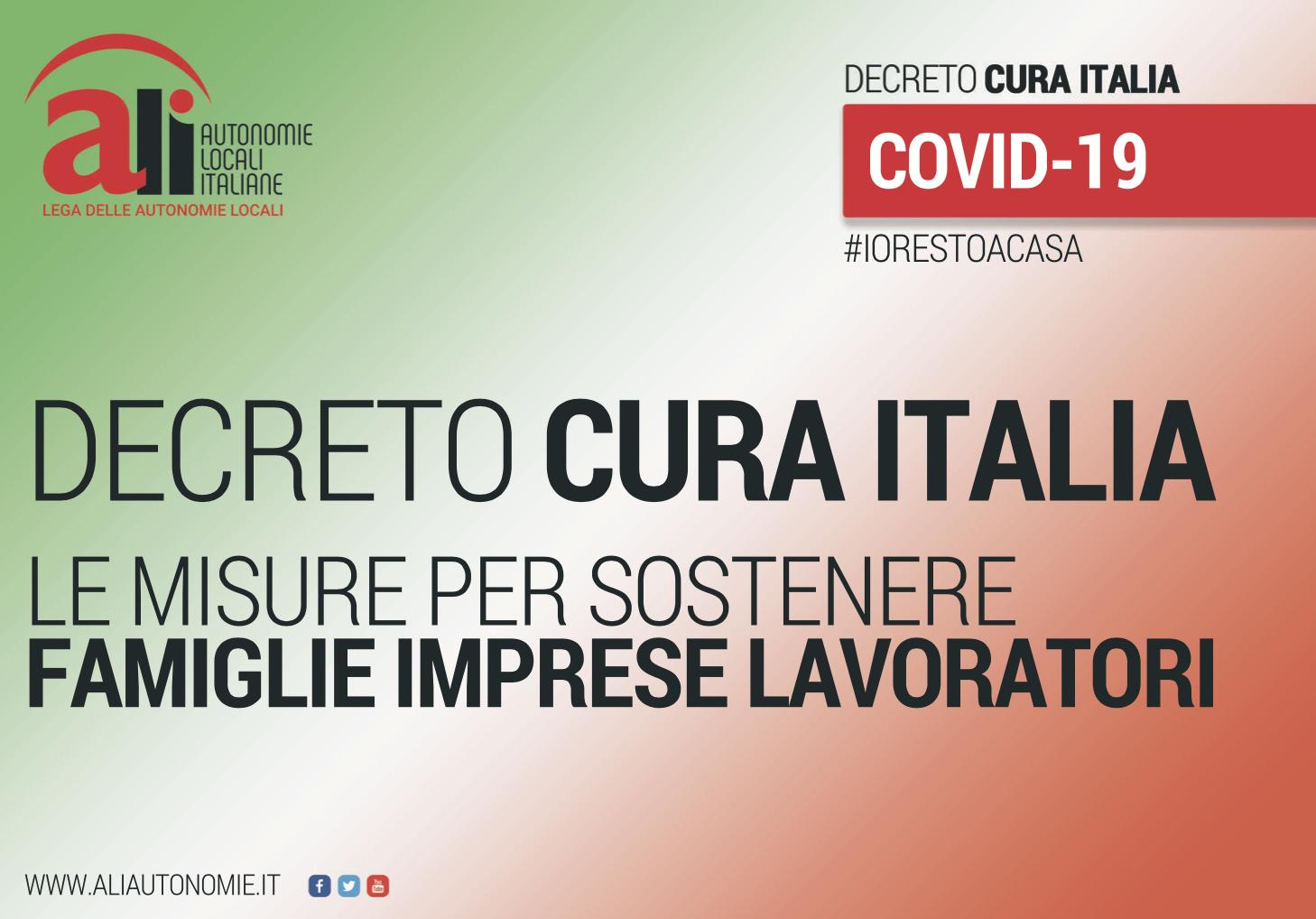copertina slides decreto cura italia