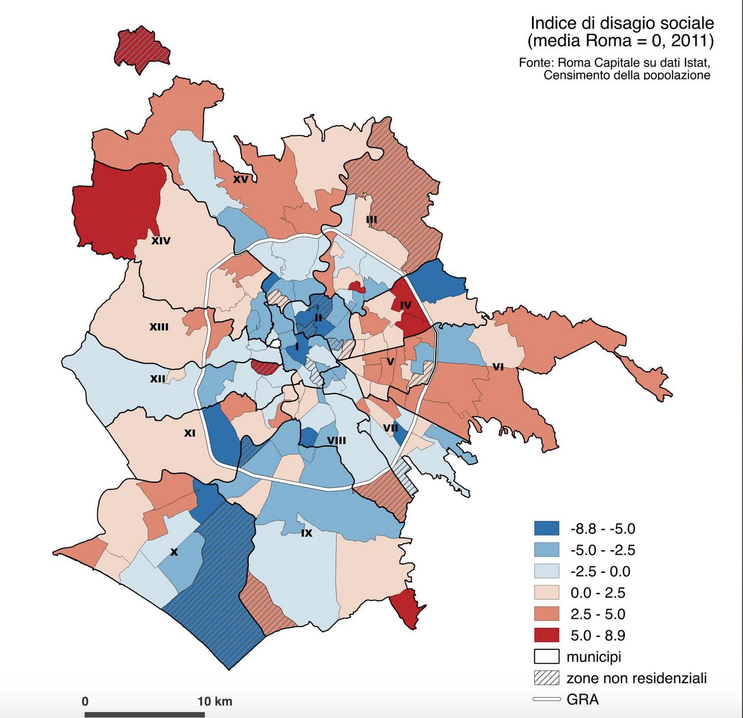 mapparoma indice disagio sociale