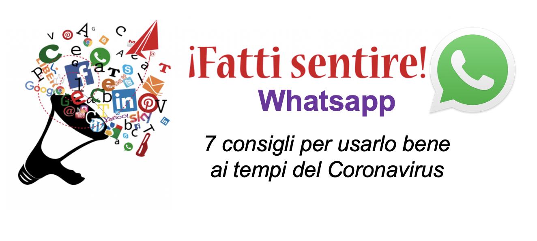 whatsapp 7 consigli