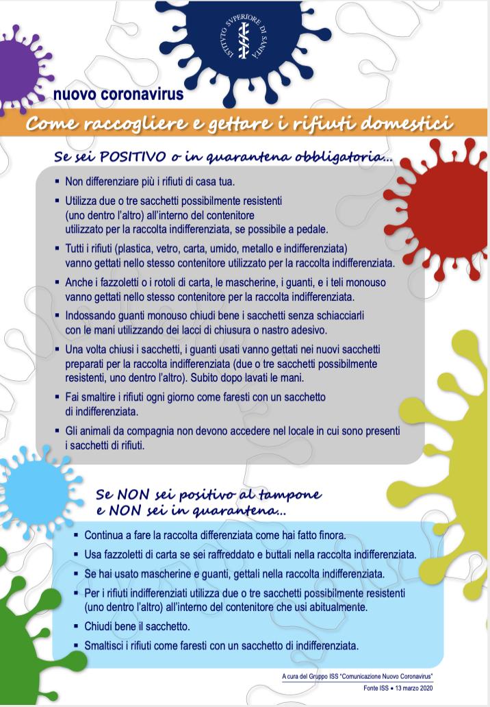 AMA smaltimento rifiuti emergenza coronavirus
