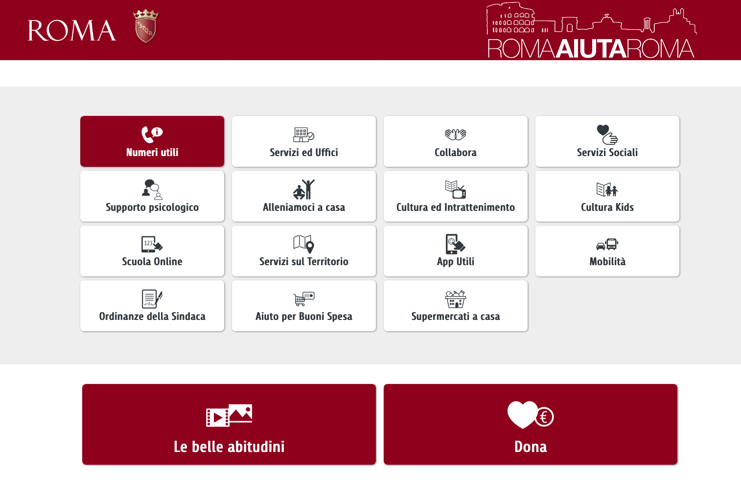COMUNE ROMA AIUTA ROMASchermata 2020-04-03 alle 17.32.48