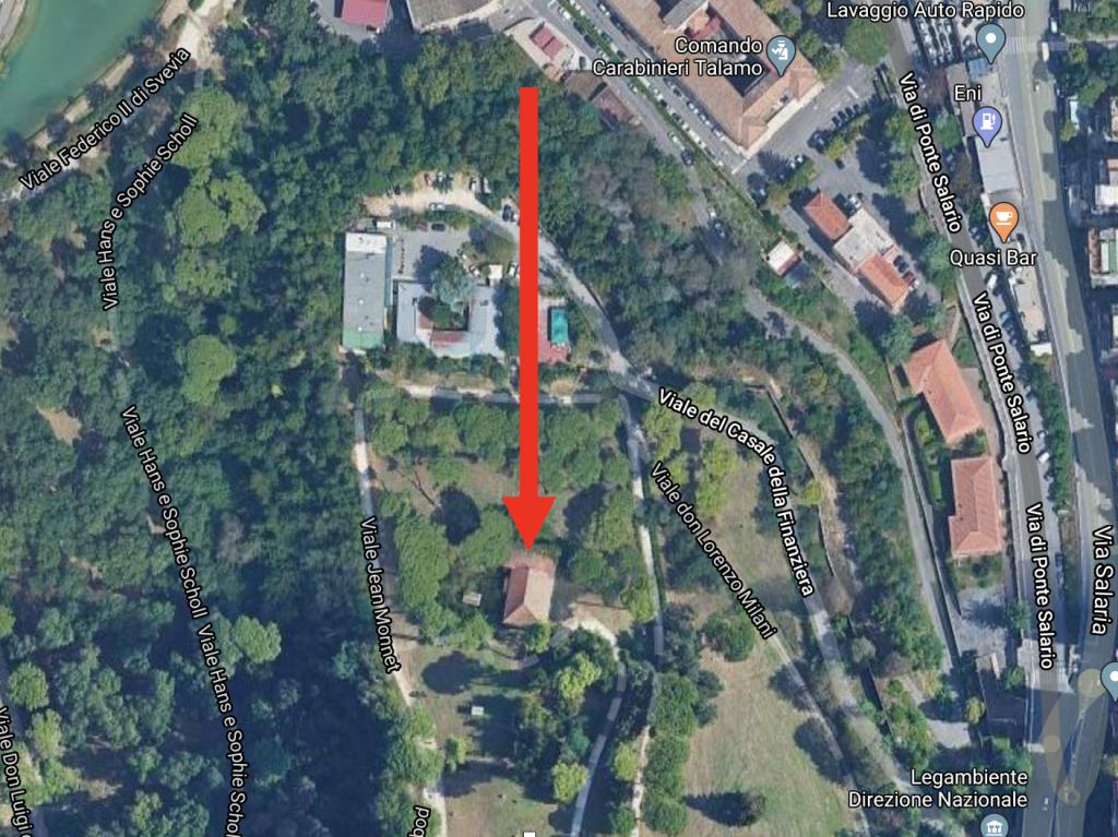 Map Villa Ada Casale della Finanziera