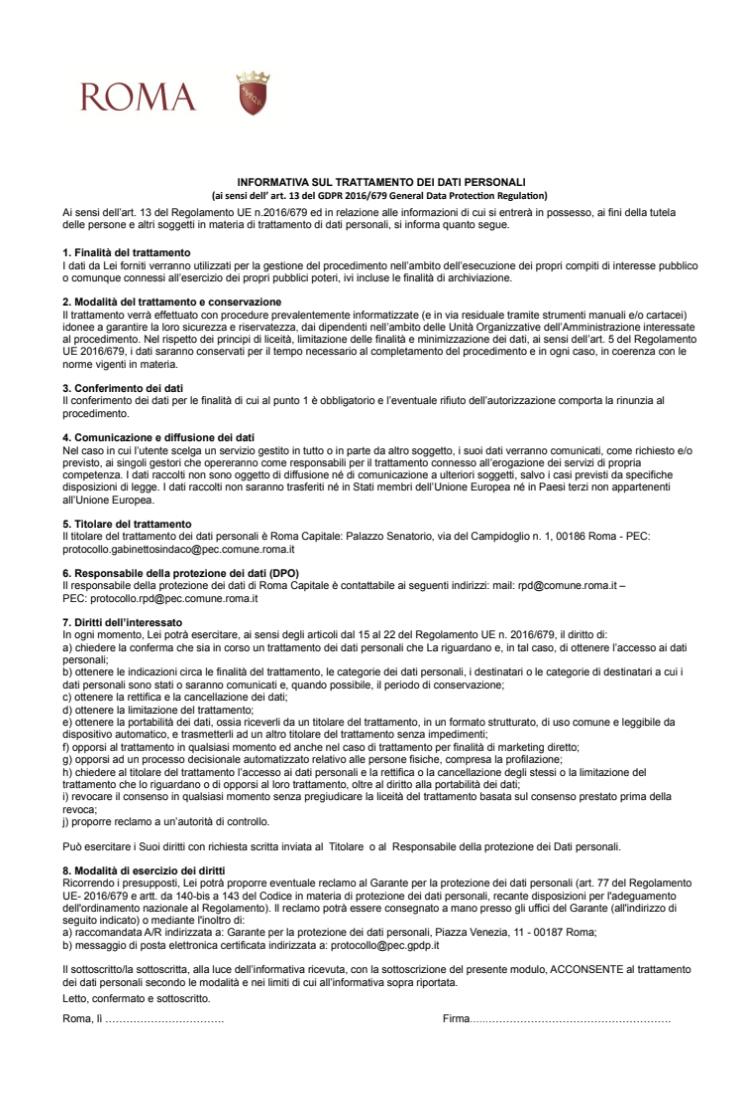 modello comune roma per richiesta buono spesa 3 aprile 2020 pag.3